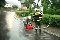 SDH Malé Březno: Čerpání vody