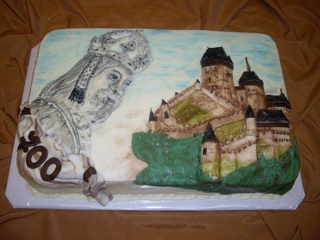 Modelovaný dort Karel IV.