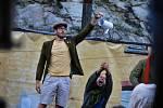 Hra Bratrstvo kočičí pracky na hradě Střekov