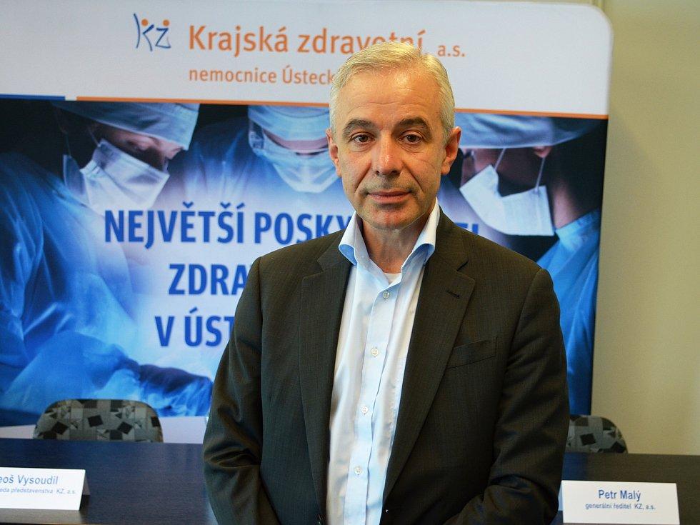 Generální ředitel Krajské zdravotní Petr Malý.