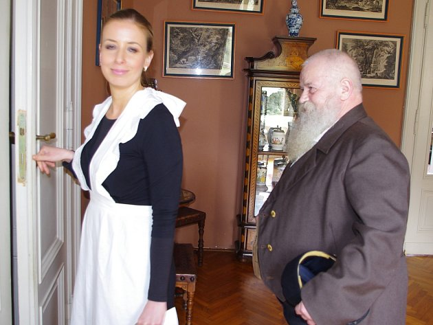 Viktor Cibich na zámku Velké Březno.