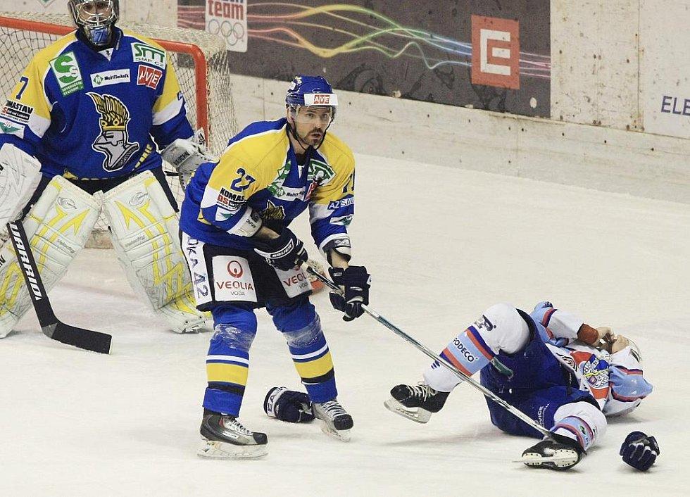 Hokejové utkání Chomutov - Ústí nad Labem (28.3.2010).