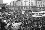 Listopad 1989 v Ústí nad Labem.
