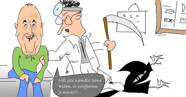 Karikatura: Přemysl Bláha.