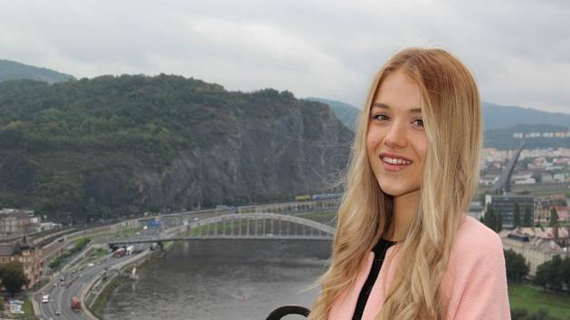 Modelka a studentka Gymnázia Jateční Markéta Marečková.