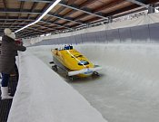 Vítězná posádka Francesco Friedricha na trati první jízdy-