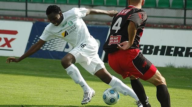 Utkání II. fotbalové ligy mezi Baníkem Most a Ústím nad Labem