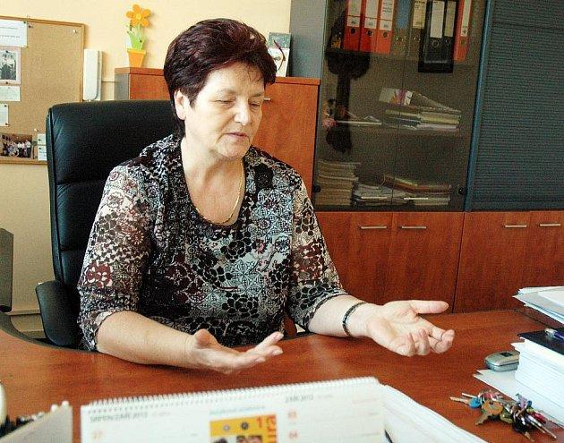 Ředitelka bílinské školy.