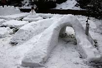 Sněhové království pro vnučku.