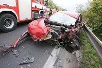 Vážná dopravní nehoda u Dolních Zálezel. (Úterý 19. října 2010)
