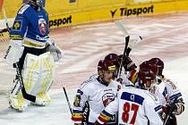 HC Slovan Ústečtí Lvi a HC Sparta Praha v hokejovém utkání Tipsport cupu.