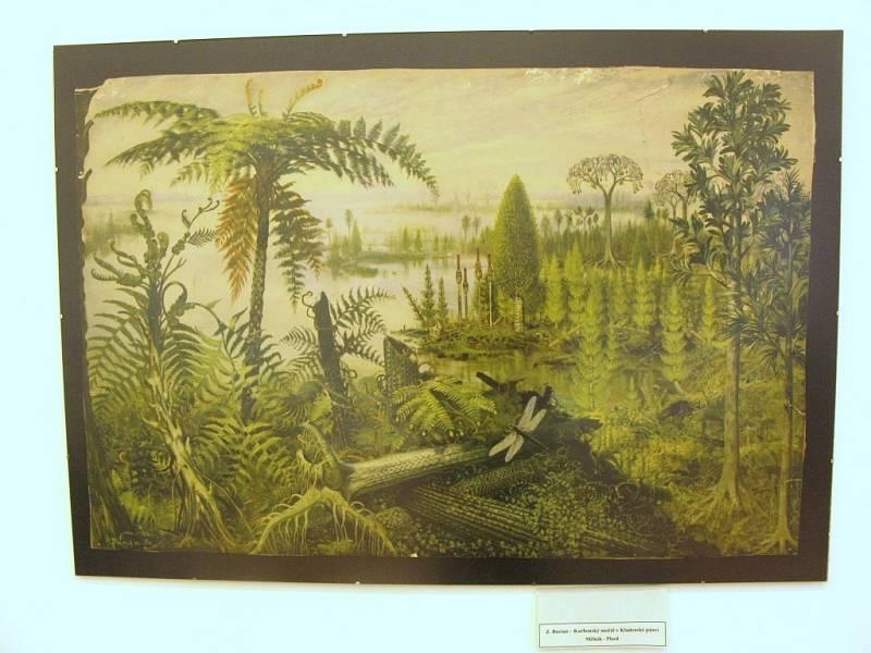 Obrazy Zdeňka Buriana kdysi nechyběly v žádném školním přírodovědném kabinetu. Na výstavě můžete vidět jeho karbonský močál v Kladenské pánvi mezi Mělníkem a Plzní.