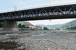 Tak vypadá řeka Labe v Ústí při velkém suchu. Archivní foto