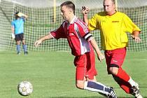 Fotbalisté Svádova (červení) prohráli v Brné 3:4.