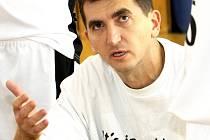 Trenér Martin Vaněk.
