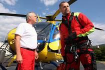 S leteckými záchranáři z Ústí nad Labem pravidelně létají i policisté nebo hasiči.
