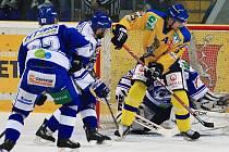 Hokejisté Ústeckých Lvů hostí nejprve v souboji prvního s druhým v tabulce první ligy Vrchlabí a zítra změří síly se čtvrtou Kometou Brno.