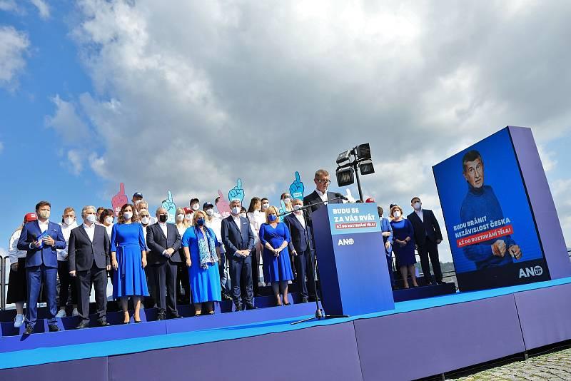 Zahájení volební kampaně hnutí Ano 2011 na Větruši v Ústí nad Labem