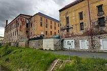 Aktuální stav budovy cukrovaru ve Vaňově