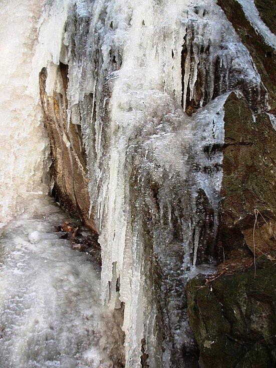 Průčelský ledopád.