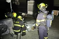 Na střeše Severotisku hořel ventilátor klimatizace