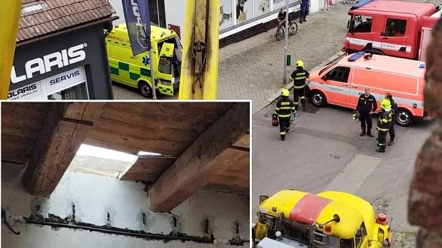 Dělník se propadl střechou přes dvě podlaží