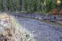 Únik sedimentu do řeky Svatavy