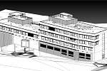 Vizualizace FZS v areálu Masarykovy nemocnice