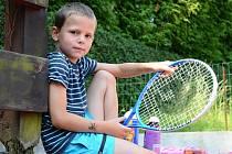 Tenisový klub Pod svahem uspořádal tenisovou akademii pro nejmenší.