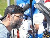 Ústečtí Berani (modrobílí) porazili Ještěry Ústí (černo-bílo-zelení) i ve třetím finálovém utkání a jsou vítězi 2. ligy sever 2019. Petr Kotlík