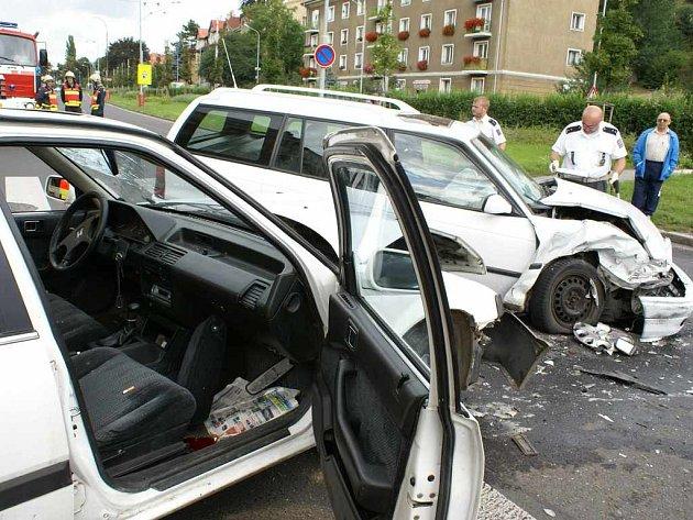 Vážná dopravní nehoda v Ústí nad Labem