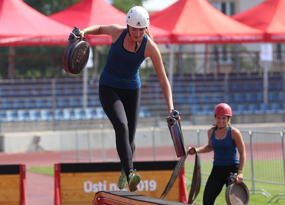 V Ústí nad Labem se koná tři dny republiková soutěž v požárním sportu 2019, kde soutěží v disciplínách jak profesionální hasiči tak dobrovolné jednotky a spolky.