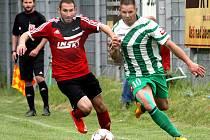 Fotbalisté Brné (červeno-černí) v úvodu přípravy prohráli v Oldřichově.