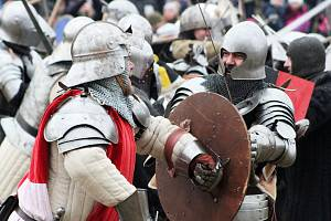Historičtí šermíři u Podbořan