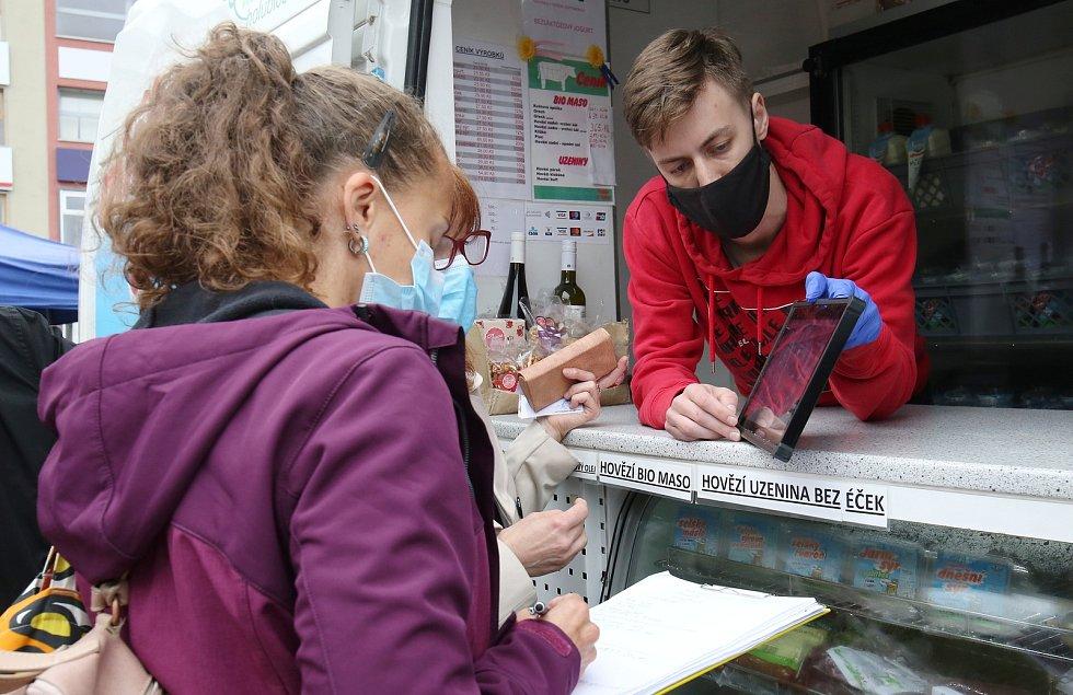 Česká obchodní inspekce dorazila ve čtvrtek dopoledne na farmářské trhy v Ústí nad Labem na Mírovém náměstí.