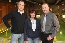 Míroslav Wedlich společně se svými kolegy Marcelou Borytovou a Miroslavem Bednářem.