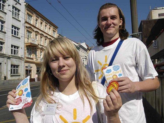 Sluníčkový den se studenty Klárou Culkovou a Radkem Jakubcem