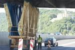 Oprava Benešova mostu v Ústí nad Labem.