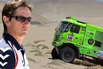 Robin Dolejš na Dakaru hlídá motory buggyra v třech českých tatrách.