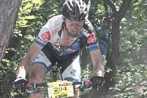 Člen ústecké stáje Bicykl Servis Kříž Jan Vácha dojel v závodě ČP mužů v Kutné Hoře na čtvrtém místě v disciplíně Eliminátor.