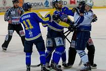 David Tůma (uprostřed) patří k tahounům Ústí v play off.