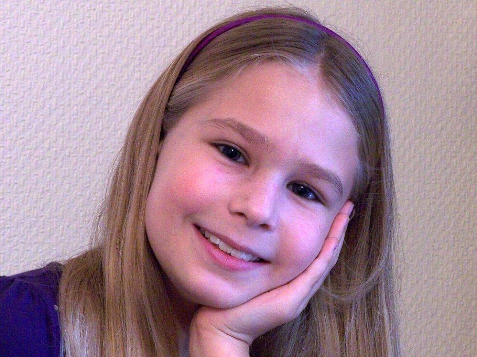 11. ELIŠKA KOMÁROVÁ, 9 let, Ústí nad Labem.