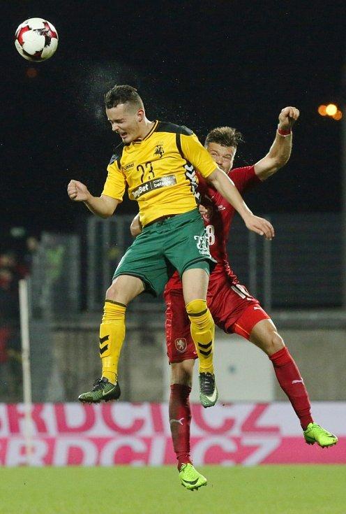 Repre v Ústí. ČR - Litva 3:0.