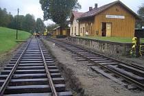 Práce na železnici v Zubrnicích. Ilustrační foto.