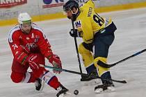 Hokejový zápas mezi Ústím a Porubou.