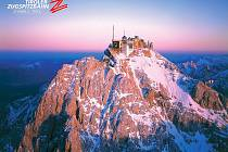 Pohled na vrcholek Zugspitze.