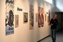 Výstava Zdeněk Hybler Baťovský plakát krajská galerie výtvarného umění ve Zlíně.