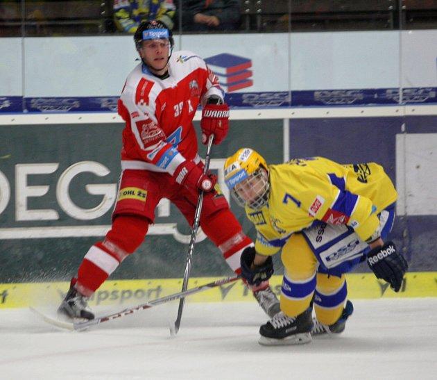 Hokejisté PSG Zlín se ve 3. kole play-out střetli s Olomoucí.