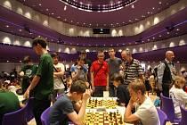 Mistrovství ČR v šachu školních družstev v kongresovém centru ve Zlíně.