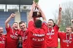 Fotbalisté Provodova slaví zisk krajského poháru v roce 2017 - pošesté v řadě. Ilustrační foto